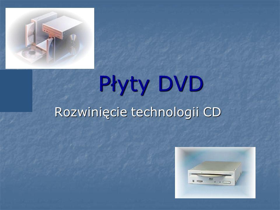 Płyty DVD Rozwinięcie technologii CD