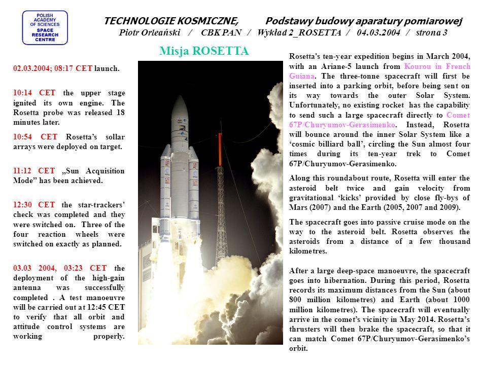 Rosetta jest misją fundamentalną (tzw.