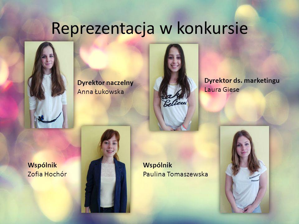 Reprezentacja w konkursie Dyrektor naczelny Anna Łukowska Dyrektor ds.