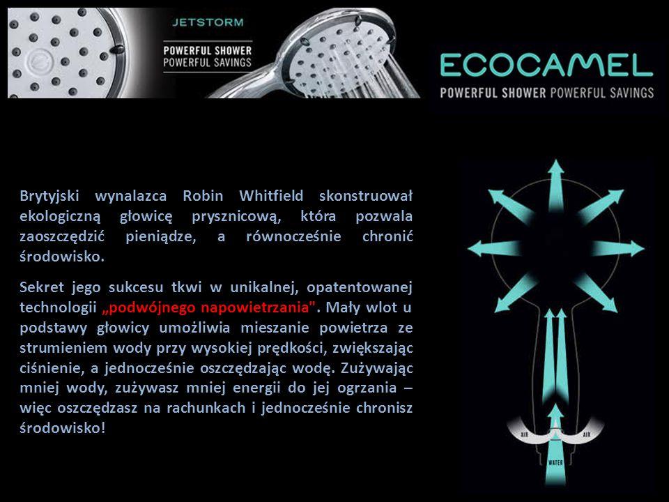 TRIUMF NIEZWYKŁEGO WYNALAZKU! Brytyjski wynalazca Robin Whitfield skonstruował ekologiczną głowicę prysznicową, która pozwala zaoszczędzić pieniądze,