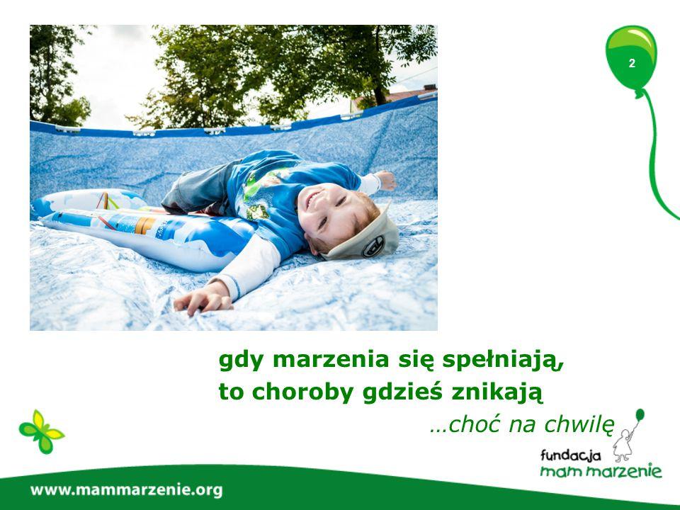 3 Są dzieci, których największym marzeniem jest zdrowie.