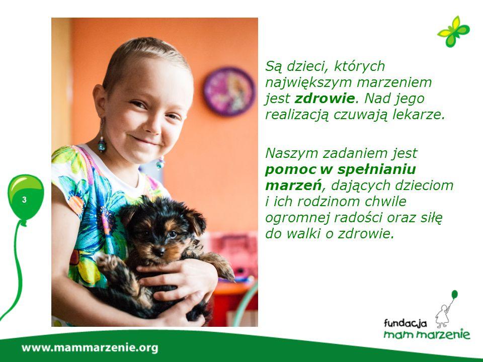 4 Fundacja Mam Marzenie działa po to, aby spełniać marzenia chorych dzieci Dlaczego.