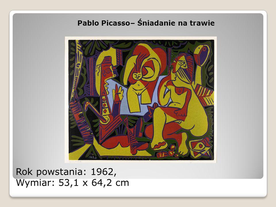 Rok powstania: 1962, Wymiar: 53,1 x 64,2 cm Pablo Picasso– Śniadanie na trawie