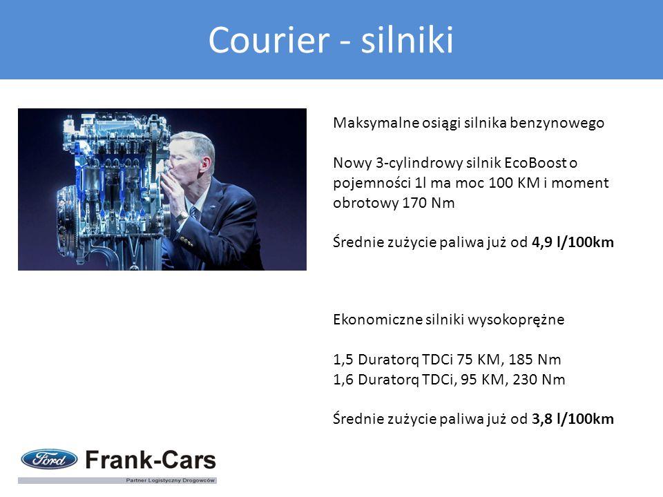 Maksymalne osiągi silnika benzynowego Nowy 3-cylindrowy silnik EcoBoost o pojemności 1l ma moc 100 KM i moment obrotowy 170 Nm Średnie zużycie paliwa