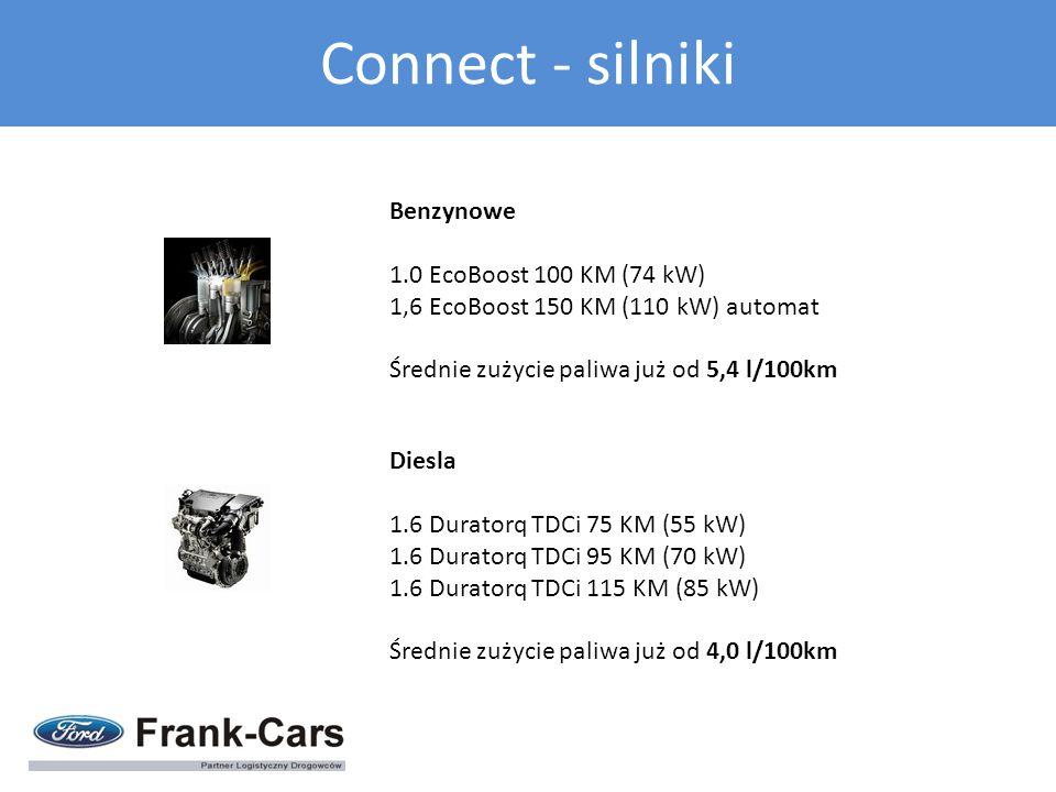 Benzynowe 1.0 EcoBoost 100 KM (74 kW) 1,6 EcoBoost 150 KM (110 kW) automat Średnie zużycie paliwa już od 5,4 l/100km Diesla 1.6 Duratorq TDCi 75 KM (5
