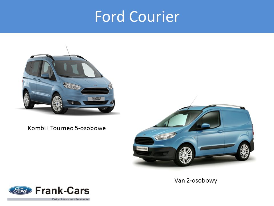 Van 2-osobowy Kombi i Tourneo 5-osobowe Ford Courier