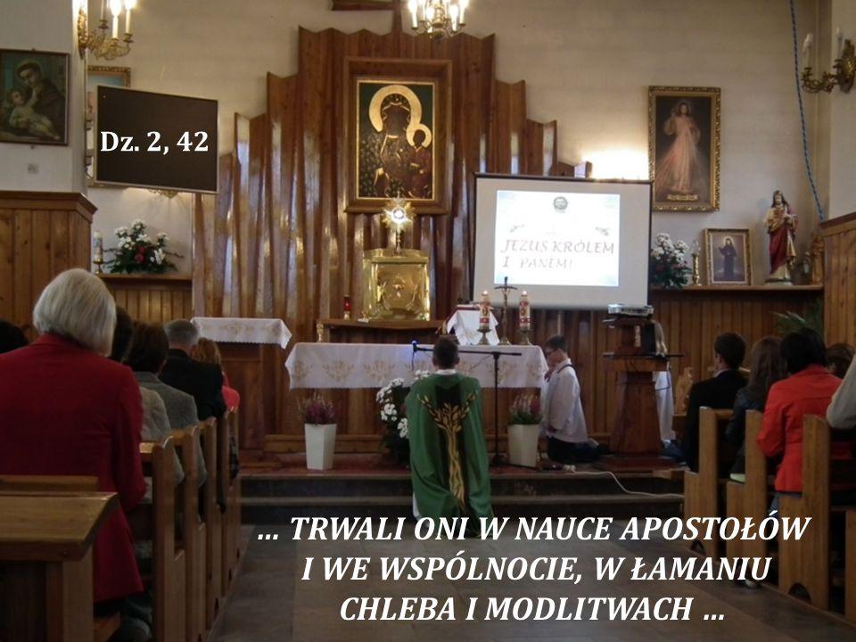 … TRWALI ONI W NAUCE APOSTOŁÓW I WE WSPÓLNOCIE, W ŁAMANIU CHLEBA I MODLITWACH … Dz. 2, 42