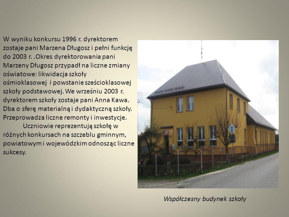 Budynek, w którym mieści się obecnie szkoła zbudowano w latach 1020-1926. Pierwszym kierownikiem szkoły był pan Jan Zając. W czasie wojny budynek szko