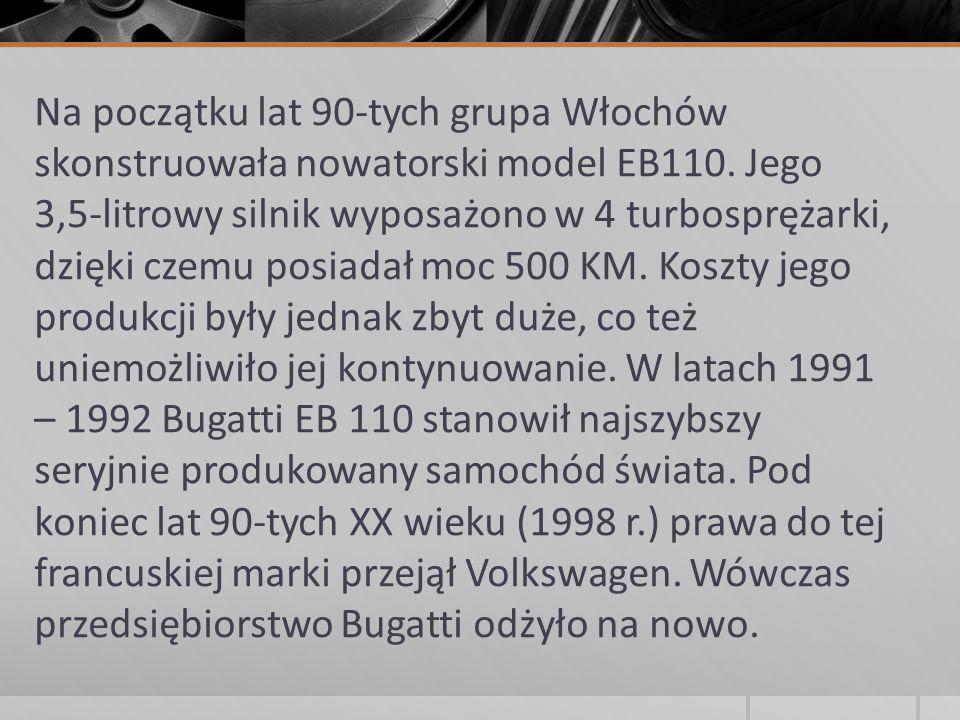 Modele wyścigowe 1910-1914 Bugatti Type 13/Type 15/Type 17/Type 22 1922-1926 Bugatti Type 29 1923 Bugatti Type 32 Tank 1924-1930 Bugatti Type 35 1927-1930 Bugatti Type 52 (samochód elektryczny dla dzieci) 1936-1939 Bugatti Type 57G Tank 1937-1939 Bugatti Type 50B 1931-1936 Bugatti Type 53 1931-1936 Bugatti Type 51A/Type 54 GP/Type 59 1955-1956 Bugatti Type 251