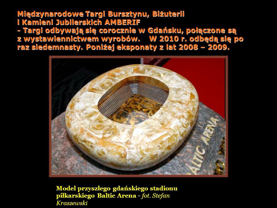 Eksponaty z Muzeum Bursztynu w Kaliningradzie (Rosja)