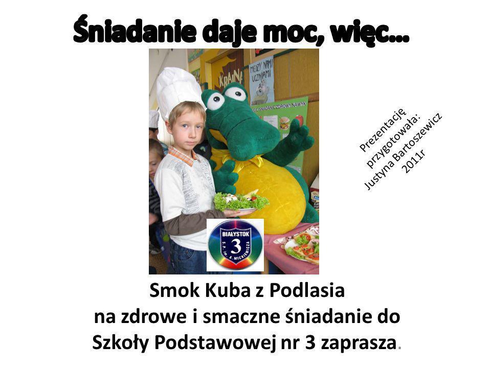 Smok Kuba z Podlasia na zdrowe i smaczne śniadanie do Szkoły Podstawowej nr 3 zaprasza.