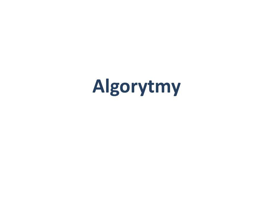 Algorytm – zestaw ściśle określonych czynności prowadzących do wykonania zadania algorytmami mamy do czynienia, często w życiu codziennym.