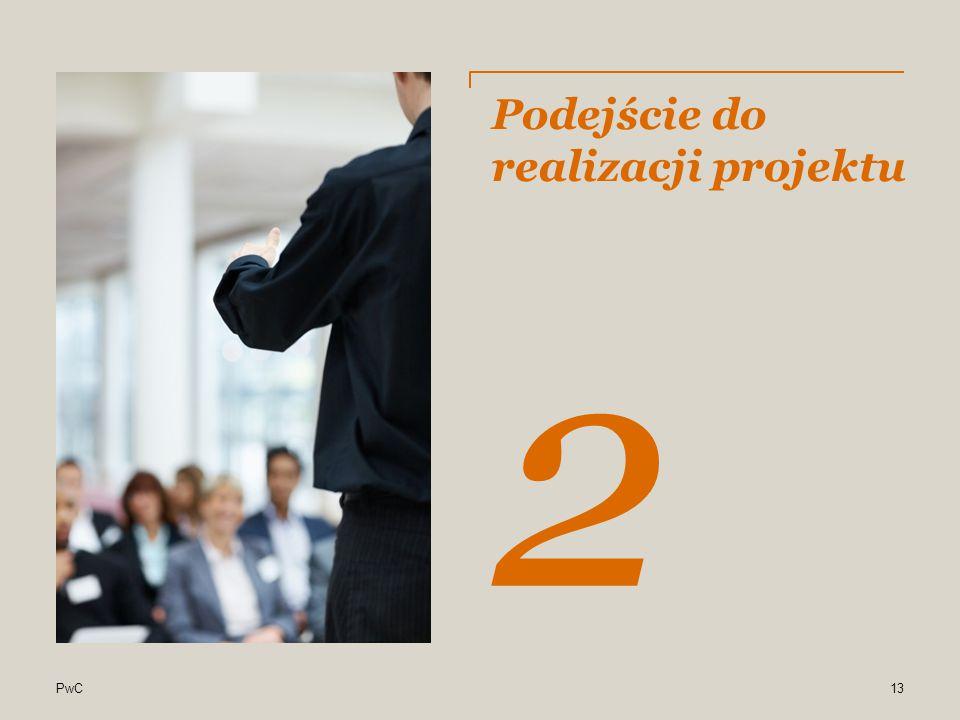 PwC Cele projektu i oczekiwane efekty Wzrost eksportu uproszczenie procedur ubiegania się o wsparcie przez przedsiębiorców wsparcie instytucji otoczenia biznesu zajmujących się promocją eksportu wzmocnienie koordynacji działań w zakresie promocji eksportu Zwiększenie napływu inwestycji zagranicznych poprawę systemu obsługi inwestora aktywny marketing inwestycyjny współpracę wszystkich zainteresowanych stron w zakresie promocji napływu bezpośrednich inwestycji zagranicznych Oczekiwane efekty 2 12
