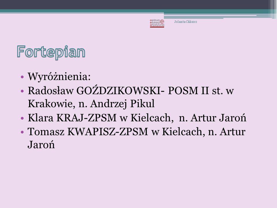 Wyróżnienie Klaudia Rogala-PSM II st. w Krakowie Jolanta Chliszcz