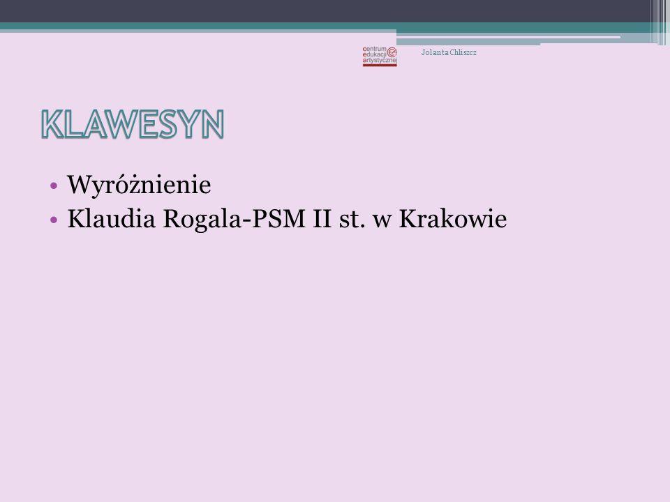 Wyróżnienie Wojciech Krupiński -Wojciech Krupiński -puzon ZPSM w Krakowie, naucz.