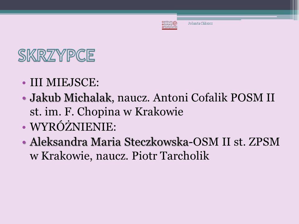 I nagroda - Damian Drwal – Zespół Szkół Plastycznych, Ogólnokształcąca Szkoła Sztuk Pięknych w Tarnowie Jolanta Chliszcz