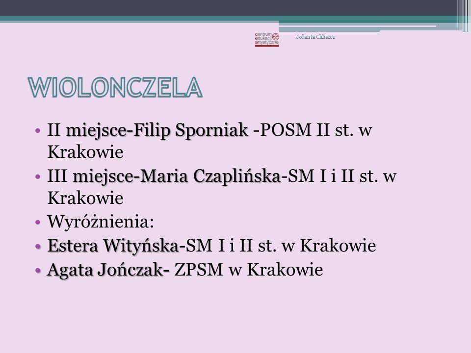 II miejsce: Krzysztof JaworowskiKrzysztof Jaworowski -SM I i II st.