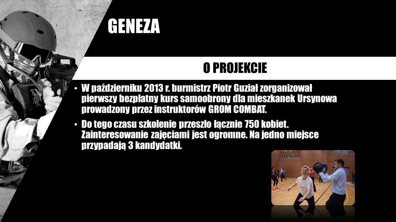 W październiku 2013 r. burmistrz Piotr Guział zorganizował pierwszy bezpłatny kurs samoobrony dla mieszkanek Ursynowa prowadzony przez instruktorów GR