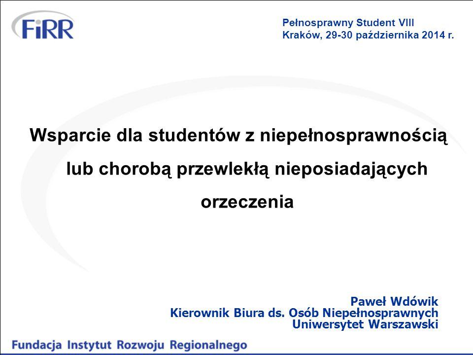 Pełnosprawny Student VIII Kraków, 29-30 października 2014 r.