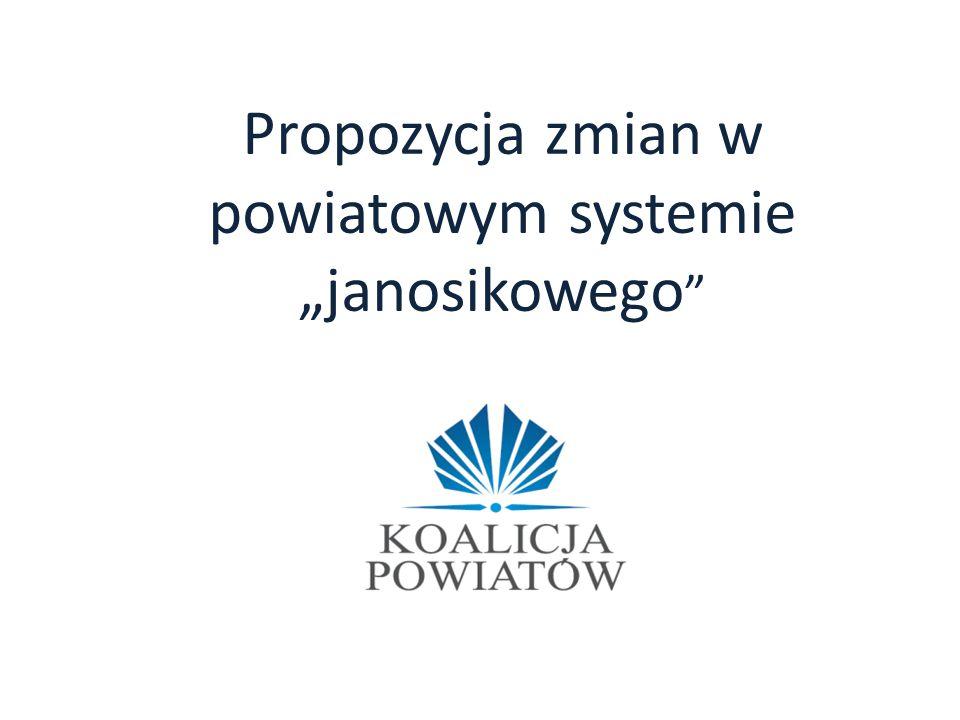 """Propozycja zmian w powiatowym systemie """"janosikowego"""