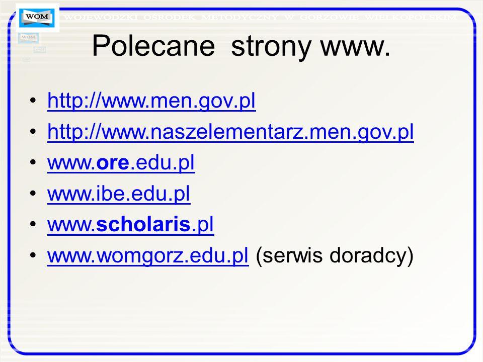 Polecane strony www.