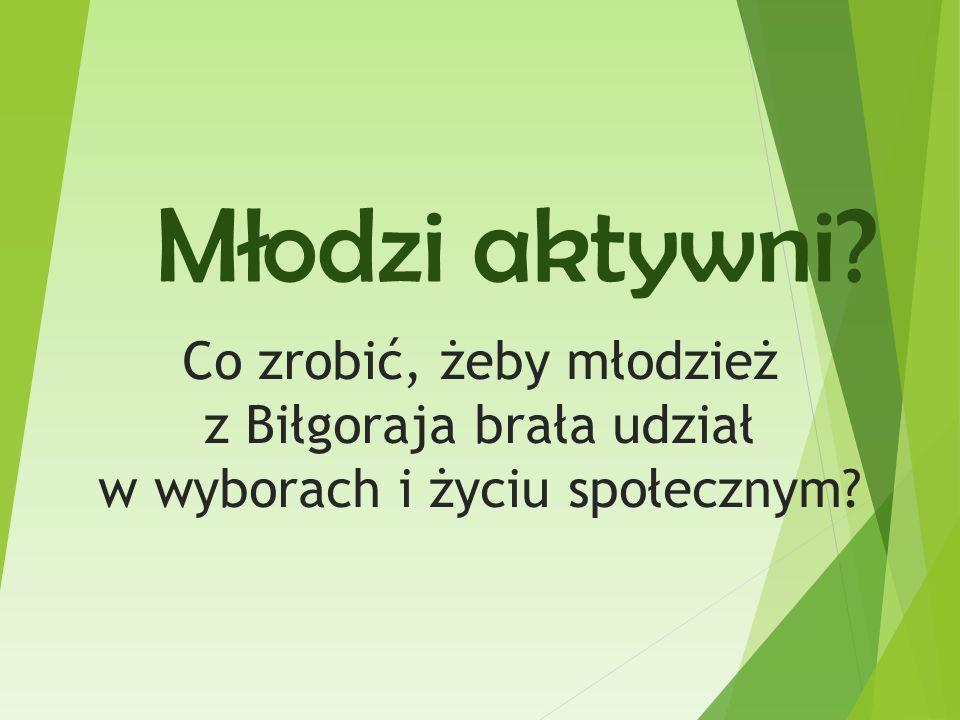 Młodzi aktywni Co zrobić, żeby młodzież z Biłgoraja brała udział w wyborach i życiu społecznym