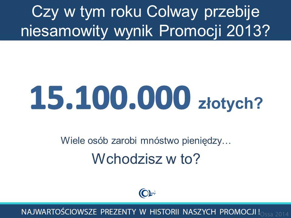 Czy w tym roku Colway przebije niesamowity wynik Promocji 2013?