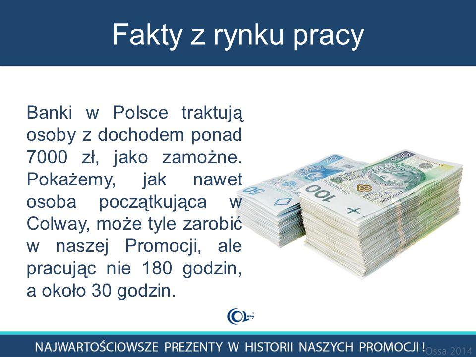 Fakty z rynku pracy Banki w Polsce traktują osoby z dochodem ponad 7000 zł, jako zamożne.