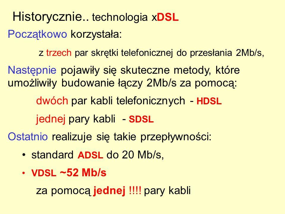 """Czyli można … zmodulować sygnały cyfrowe (bity) """"wpuścić sygnał analogowy w kanały częstotliwościowe - Daje to poszerzenie pasma - zwiększenie prędkości transmisji"""