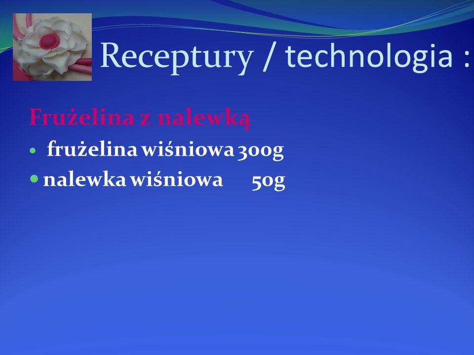 Receptury / technologia : Frużelina z nalewką frużelina wiśniowa 300g nalewka wiśniowa 50g