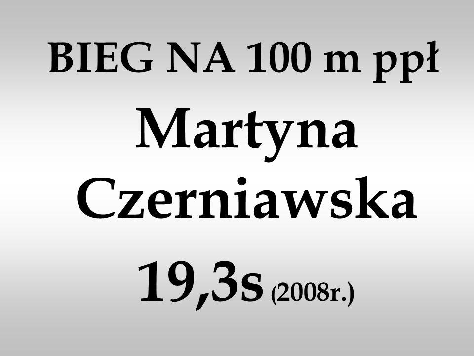 BIEG NA 100 m ppł Martyna Czerniawska 19,3s ( 2008r.)