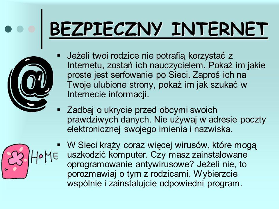  Jeżeli twoi rodzice nie potrafią korzystać z Internetu, zostań ich nauczycielem. Pokaż im jakie proste jest serfowanie po Sieci. Zaproś ich na Twoje