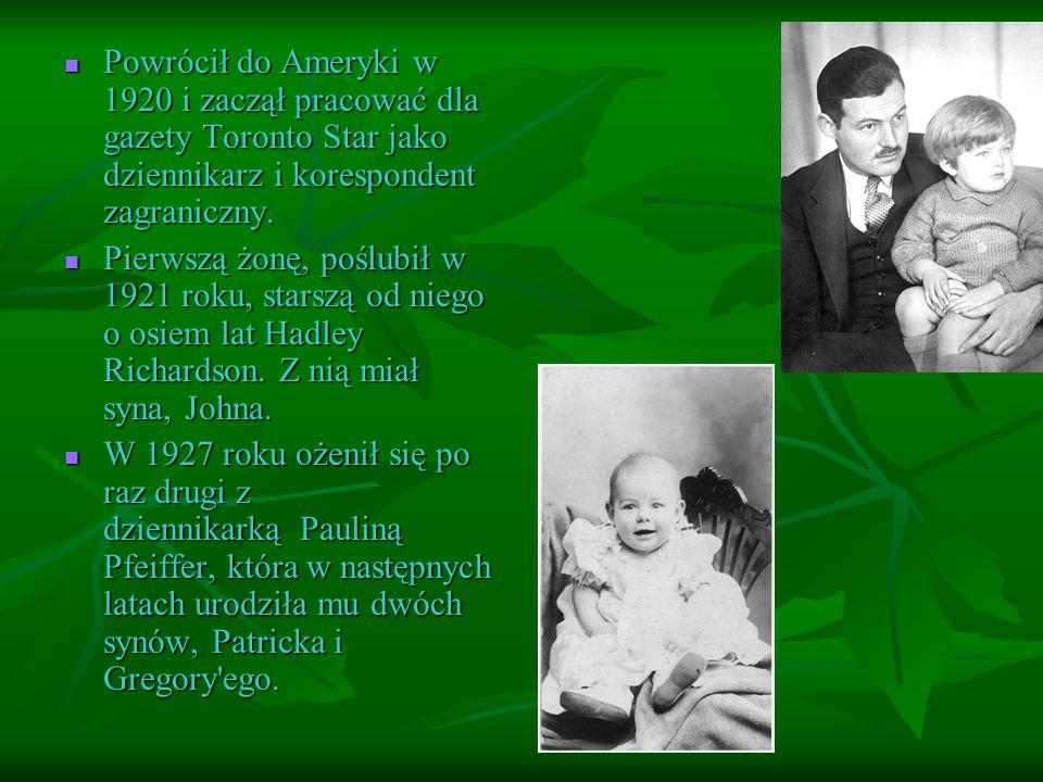 Powrócił do Ameryki w 1920 i zaczął pracować dla gazety Toronto Star jako dziennikarz i korespondent zagraniczny.