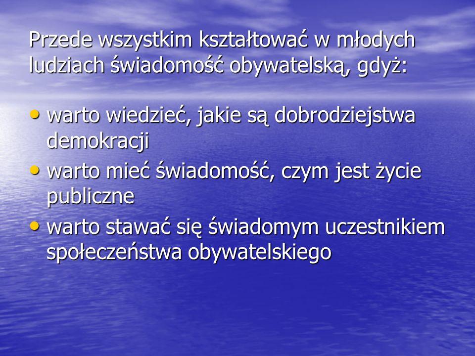 """Społeczeństwo obywatelskie w polskich warunkachSpołeczeństwo obywatelskie w polskich warunkach Art.58, ust.1 Konstytucji Rzeczypospolitej Polskiej stwierdza, iż """"każdemu zapewnia się wolność zrzeszania się ."""
