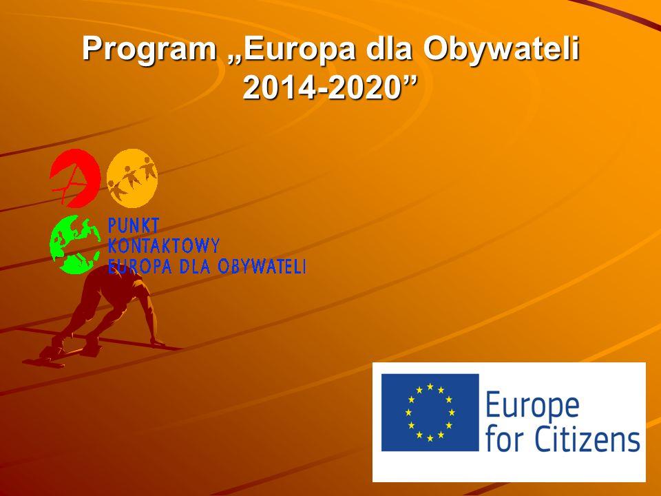"""Program """"Europa dla Obywateli 2014-2020"""" Program """"Europa dla Obywateli 2014-2020"""""""