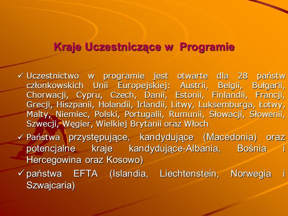 Kraje Uczestniczące w Programie Uczestnictwo w programie jest otwarte dla 28 państw członkowskich Unii Europejskiej: Austrii, Belgii, Bułgarii, Chorwa