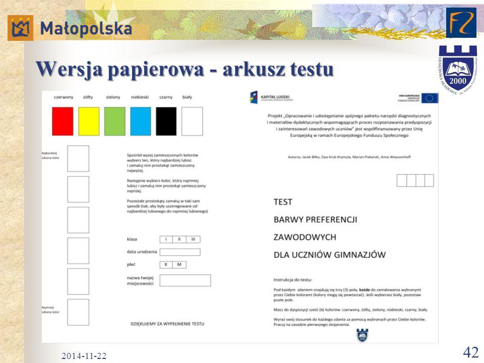 Wersja papierowa - arkusz testu 2014-11-22 42