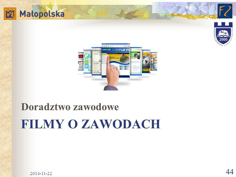 FILMY O ZAWODACH Doradztwo zawodowe 2014-11-22 44
