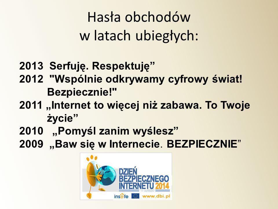 """2013 Serfuję. Respektuję"""" 2012"""