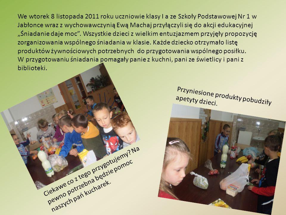 We wtorek 8 listopada 2011 roku uczniowie klasy I a ze Szkoły Podstawowej Nr 1 w Jabłonce wraz z wychowawczynią Ewą Machaj przyłączyli się do akcji ed
