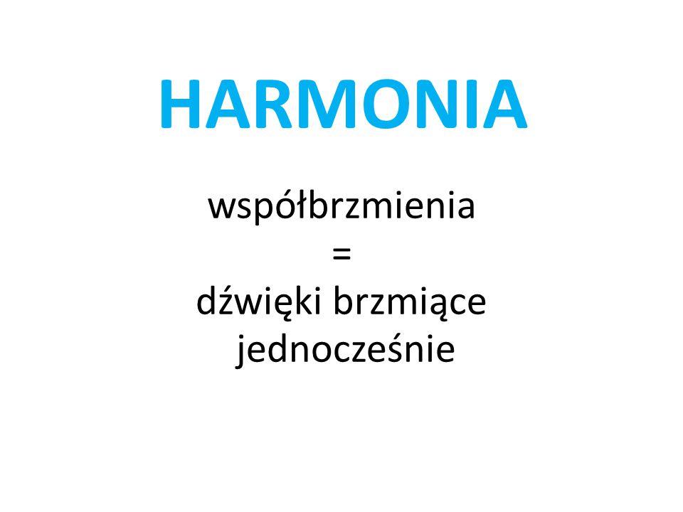 HARMONIA współbrzmienia = dźwięki brzmiące jednocześnie