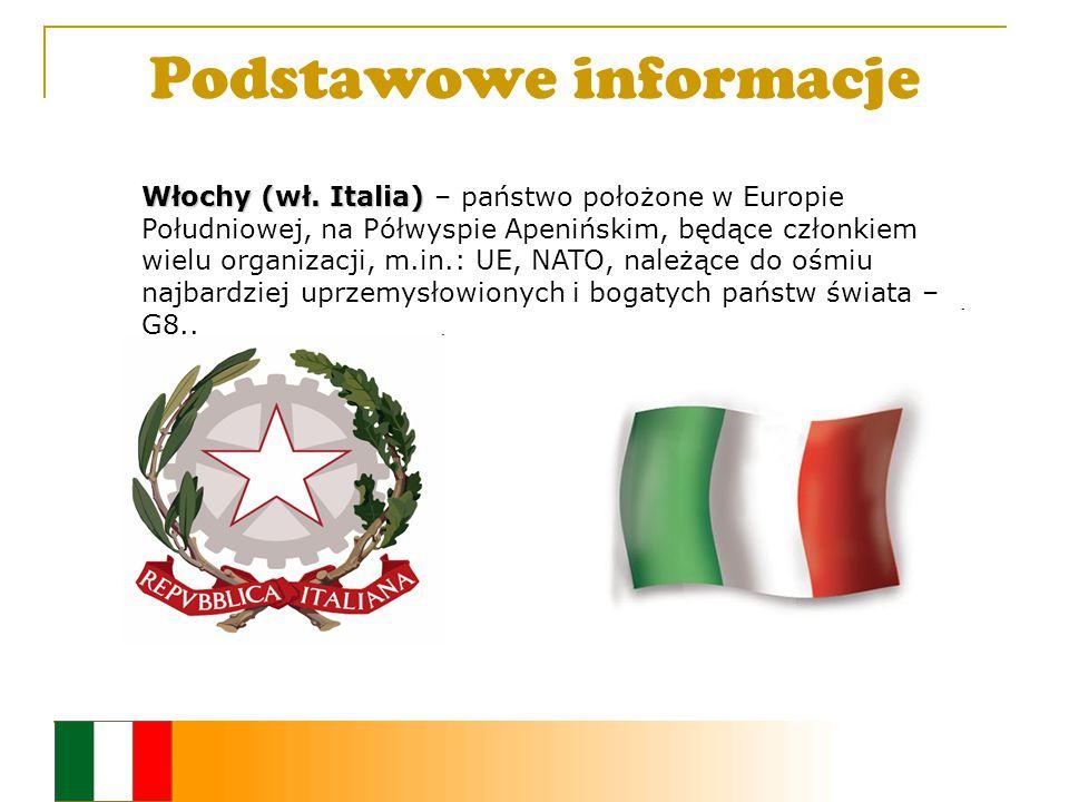 Podstawowe informacje Włochy (wł. Italia) Włochy (wł.