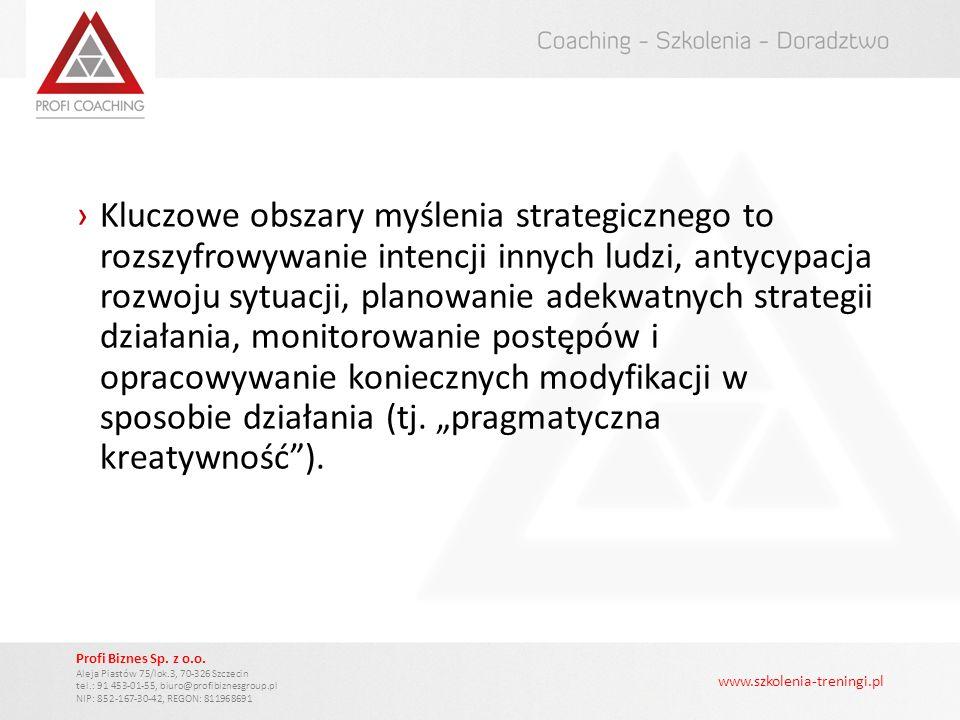 www.szkolenia-treningi.pl Profi Biznes Sp. z o.o. Aleja Piastów 75/lok.3, 70-326 Szczecin tel.: 91 453-01-55, biuro@profibiznesgroup.pl NIP: 852-167-3
