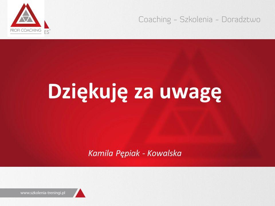 Dziękuję za uwagę Kamila Pępiak - Kowalska