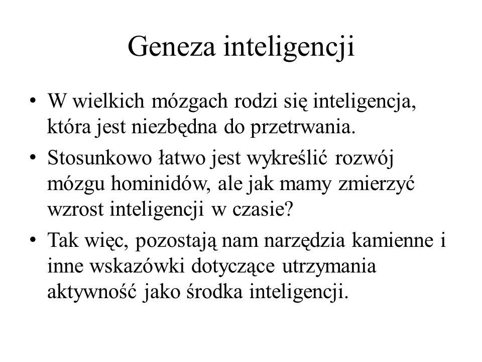 Geneza inteligencji W wielkich mózgach rodzi się inteligencja, która jest niezbędna do przetrwania.