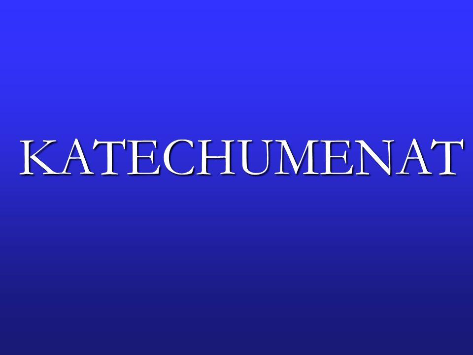 KATECHUMENAT w formacji Ruchu Światło – Życie nazywa się deuterokatechumenatem (drugim; wtórnym katechumenatem) CEL KATECHUMENATU - wzrost i rozwój własnej osoby - wzrost i rozwój własnej duchowości - przeprofilowanie relacji z bliźnimi (z biorcy w dawcę) CZAS TRWANIA nie jest precyzyjnie określony; minimum 2 lata