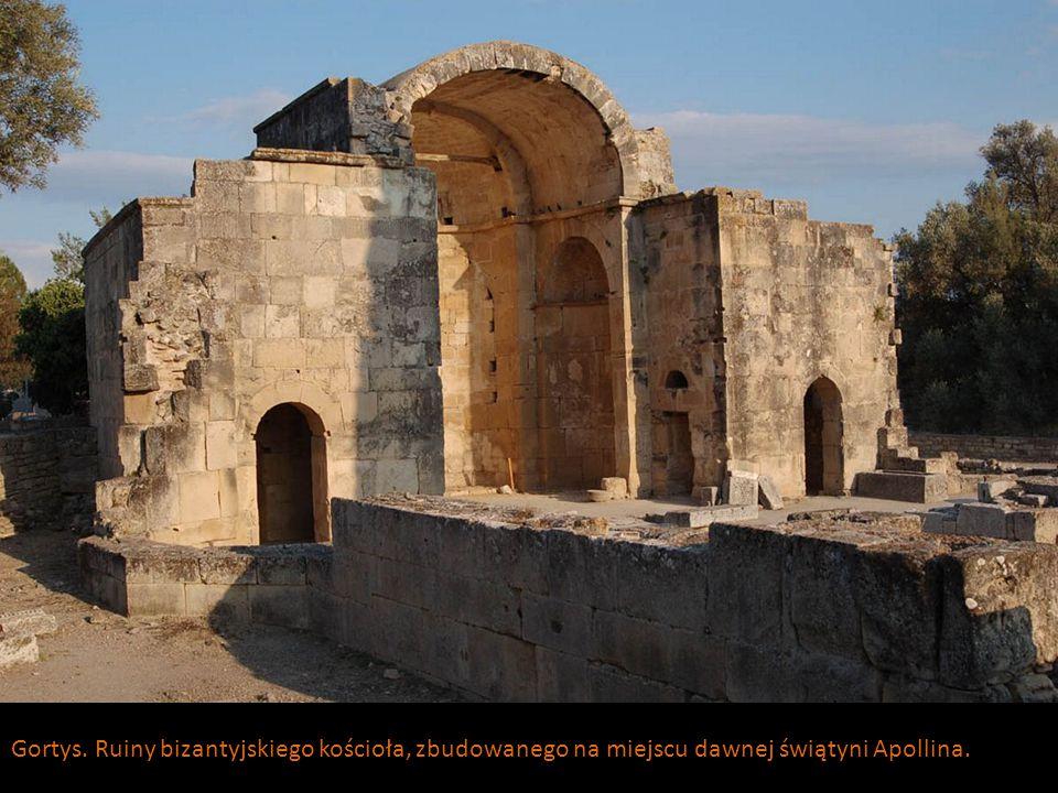 Gortys. Ruiny bizantyjskiego kościoła, zbudowanego na miejscu dawnej świątyni Apollina.