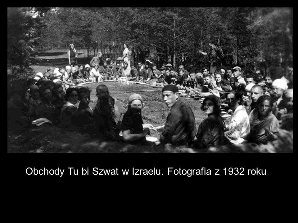 Obchody Tu bi Szwat w Izraelu. Fotografia z 1932 roku