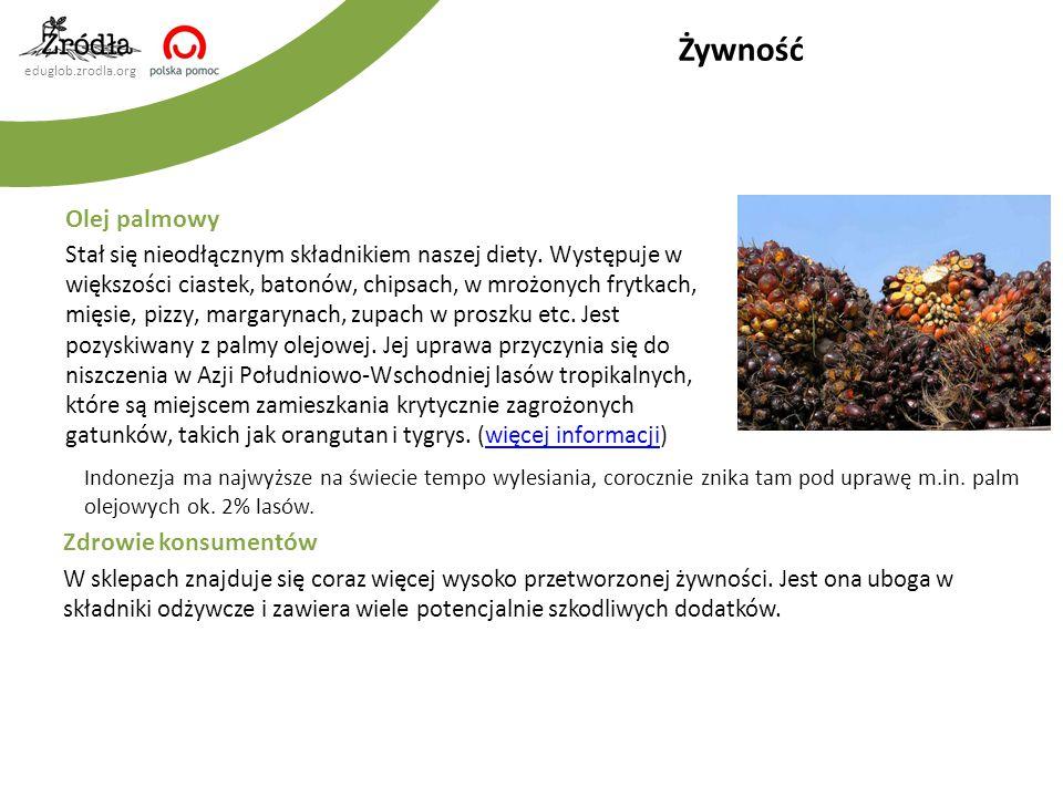 eduglob.zrodla.org Gospodarka leśna Drewno używane w produkcji mebli, podłóg czy papieru jest często pozyskiwane nielegalnie, z terenów chronionych lub o wysokiej wartości przyrodniczej.
