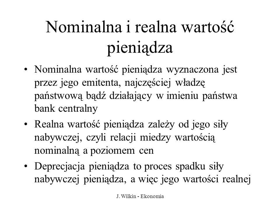 J.Wilkin - Ekonomia Inflacja a bezrobocie Tzw.